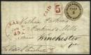 Почтовый конверт с провизорием Александрии