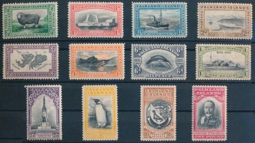 Серия почтовых марок Фолклендских островов 1933 года