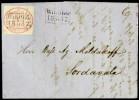Письмо с маркой 1857 года
