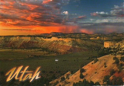Посткроссинг: почтовая открытка США, каньон
