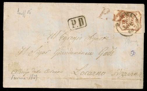 Письмо с Маркой Парма 1859