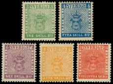 Первые почтовые марки Швеции