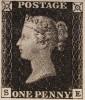 """Первая почтовая марка Великобритании и мира """"Черный пенни"""""""