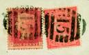 Редкая почтовая марка Красный пенни
