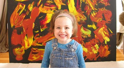Самая молодая художница Марла Олмстид