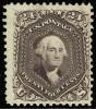 Почтовая марка США 1875 года с изображением президента Вашингтона