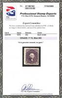 Сертификат к почтовой марке США