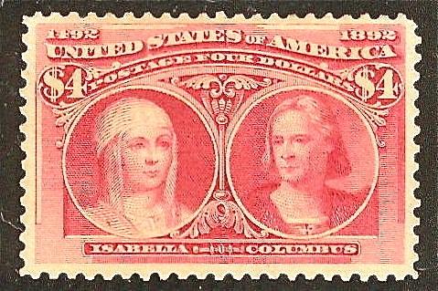 Почтовая марка США 1893 года, посвященная открытию Америки