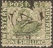 """почтовая марка Западной Австралии """"Зеленый лебедь"""""""