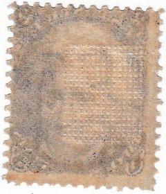 Вафелирование на почтовой марке США 1867 г. с Джексоном