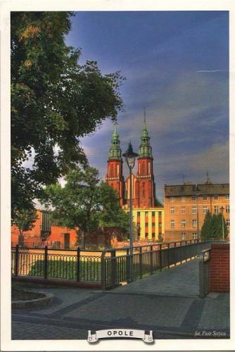 """Посткроссинг: почтовая открытка """"Кафедральный собор в Ополе"""""""