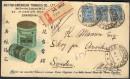 Почтовый конверт из Урги с почтовыми марками России