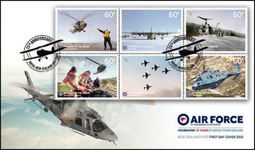 Выпуск почтовых марок Новой Зеландии с авиацией, конверт