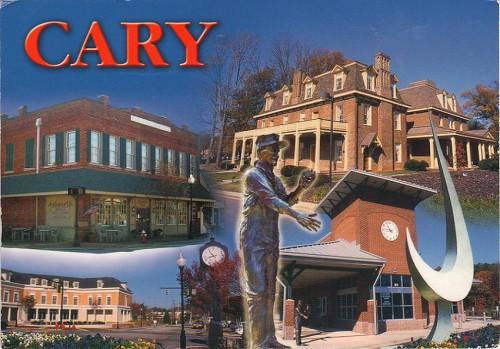"""Посткроссинг: почтовая открытка из США """"Кэри, Северная Каролина"""""""
