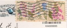 """Почтовые марки США на открытке """"Кэри"""""""