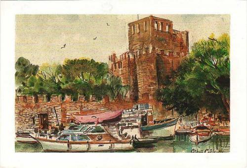 Посткроссинг: почтовая открытка из Турции с изображением башни