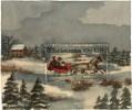 Картина из почтовой марки США с Рождеством