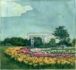 Картина из почтовой марки США с Белым домом