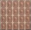 Блок почтовых марок США 1860 г. с Джефферсоном