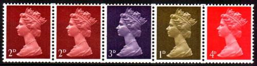 Почтовые марки Великобритании с Елизаветой II