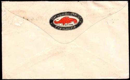 Оборот почтового конверта Австралии 1921 г.