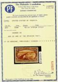 сертификат к почтовой марке США 1898 года