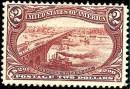 Почтовая марка США - концовка Транс-Миссисипской серии