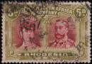 Почтовая марка Родезии с браком