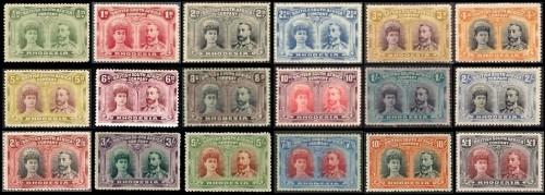 Серия марок Родезии 1910 года
