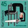 Почтовая марка Германии с Карлом Валентином