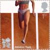 Почтовая марка Великобритании, посвященная Олимпийским играм 2012 г.