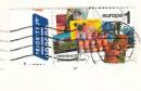 """Почтовая марка Нидерландов """"посткроссинг"""" на открытке"""