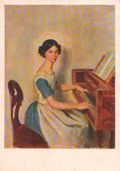 """Посткроссинг: почтовая открытка """"Пианистка"""""""