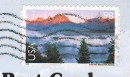 Почтовая марка США - стандарт на открытке