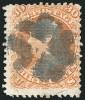 Почтовая марка США 1867 года с вафелированием