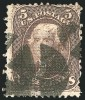 Почтовая марка США 1867 г. с вафелированием
