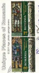 Посткроссинг: почтовые марки Румынии с королями на открытке