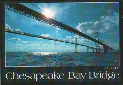 """Посткроссинг: почтовая открытка США """"Мост через Чесапикский залив"""""""