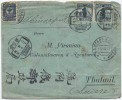 Почтовый конверт Китая со смешанной франкировкой