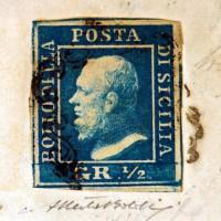 Дорогая почтовая марка Сицилии с ошибкой цвета