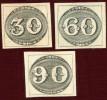 """Первые почтовые марки Бразилии 1843 г. """"Бычий глаз"""""""