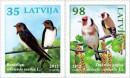 Почтовые марки Латвии с птицами