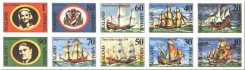 почтовые марки Силенда с кораблями мореплавателей