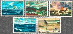 Серия почтовых марок Силенда с морем