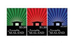 почтовые марки Силенда с изображением платформы