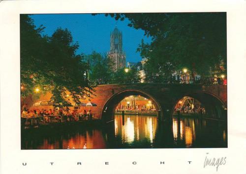 """Посткроссинг: почтовая открытка Нидерандов """"Старый канал в Утрехте"""""""
