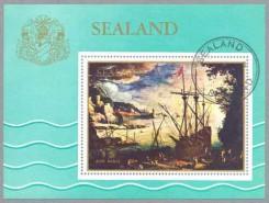 почтовый блок Силенда с кораблями