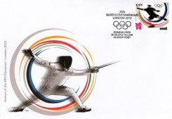Конверт первого дня Эстонии - Олимпиада в Лондоне