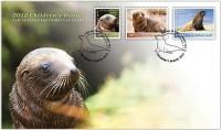 Почтовый конверт Новой Зеландии с морским львом