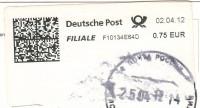 Автоматная марка Германии на открытке